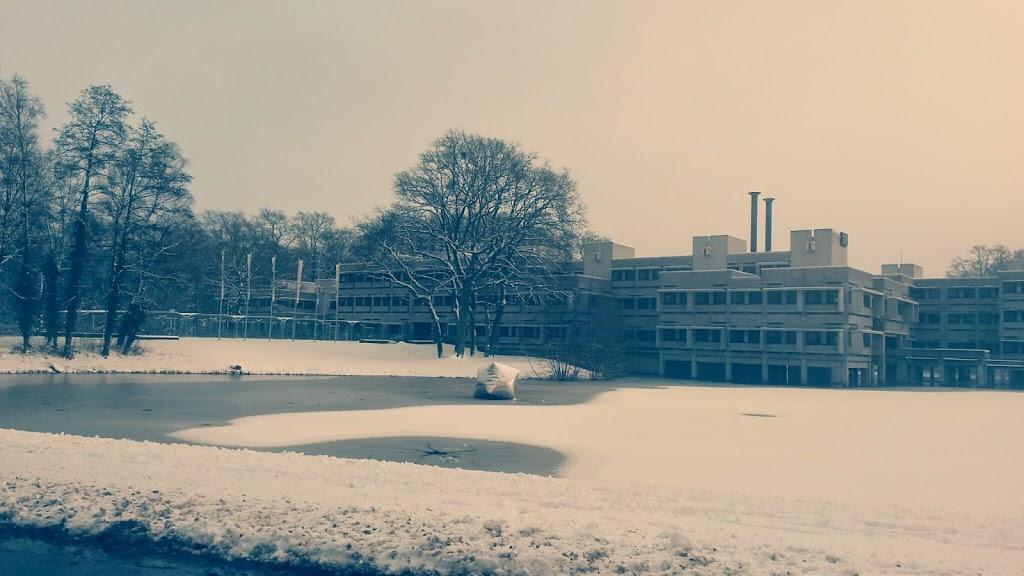 Eine Schneedecke hat sich über Enschede gelegt Image