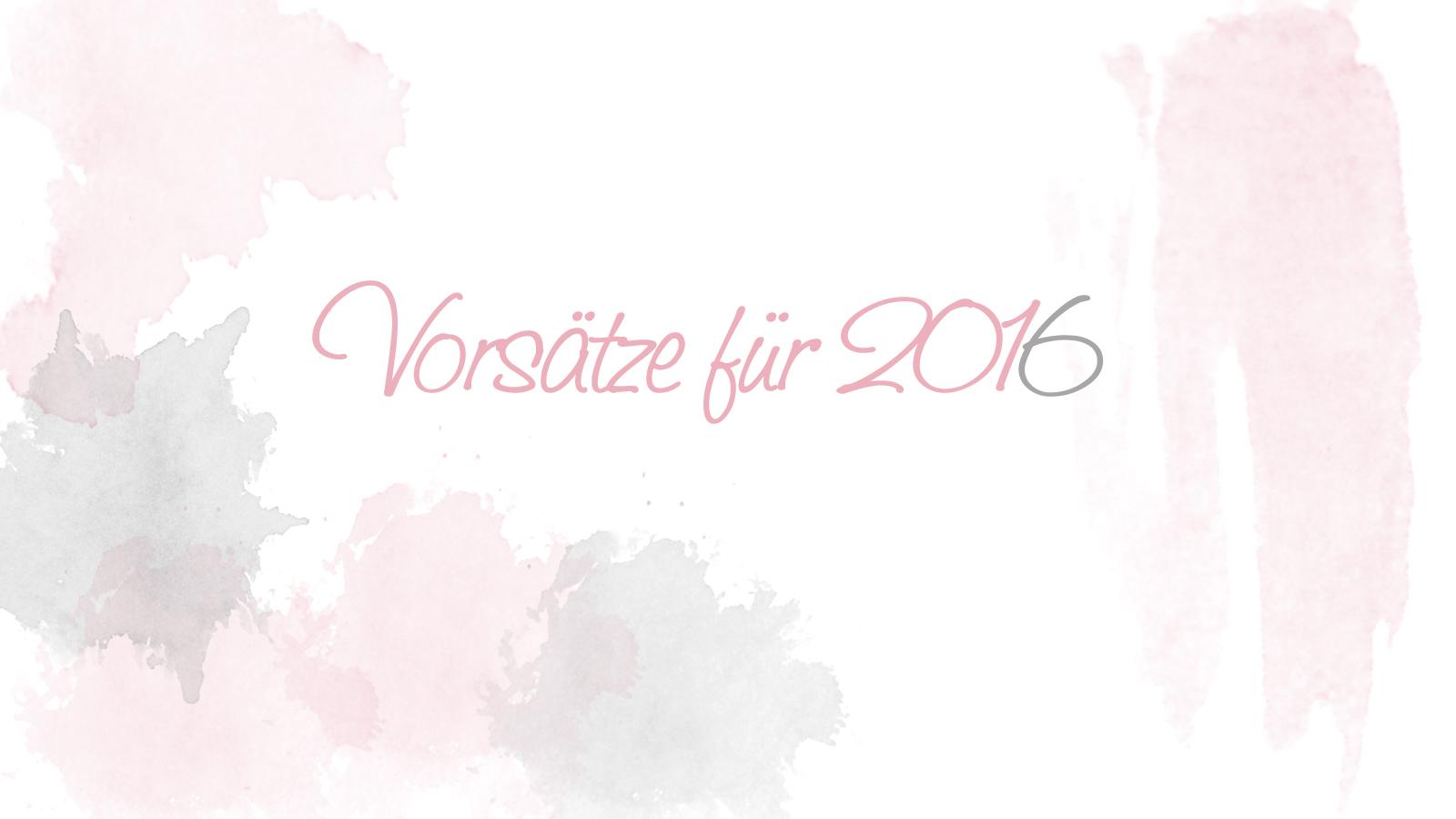 Vorsätze für 2016 Image