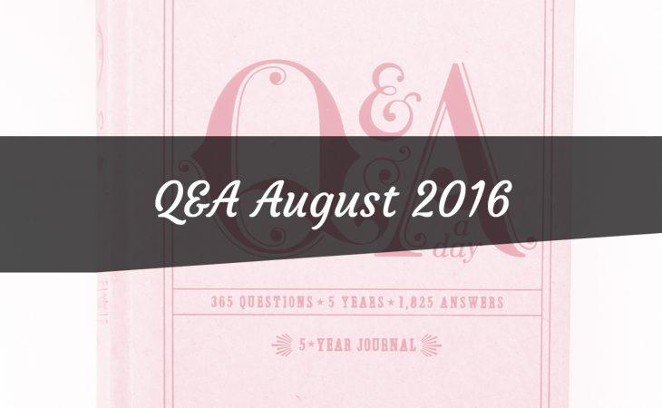 Q&A August 2016 Image